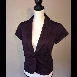 H&M Purple cropped jacket